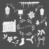 Christmas decoration silhouettes Stock Images