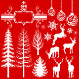 Christmas  Decoration silhouettes Royalty Free Stock Image