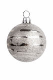 Christmas decoration - silver ball decorations Royalty Free Stock Images