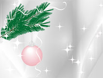 Christmas decoration on silver-grey background stock image
