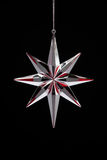 Christmas decoration silver with red star Stock Image