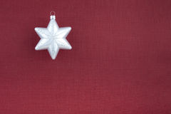 Christmas decoration silver snowflake Stock Photography