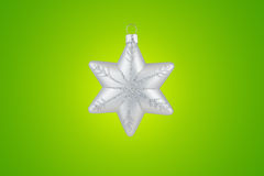 Christmas decoration silver snowflake Royalty Free Stock Photos