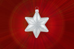 Christmas decoration silver snowflake Royalty Free Stock Photography