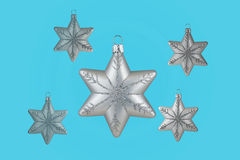 Christmas decoration silver snowflakes Stock Image