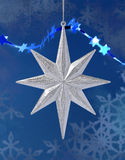 Christmas decoration silver star Royalty Free Stock Images