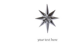 Christmas decoration silver star Royalty Free Stock Photo