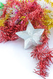 Christmas decoration with silver star Royalty Free Stock Photography