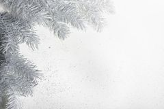 Christmas decoration in silver  tones. Christmas decoration in silver tones Stock Photography