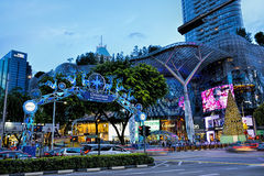 Christmas Decoration at Singapore Orchard Road. Stock Image