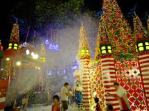Christmas Decoration at Singapore Orchard Road Stock Images