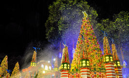 Christmas Decoration at Singapore Orchard Road Stock Photos