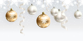 Christmas decoration for site horizontal seamless Royalty Free Stock Photos