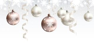 Christmas decoration for site horizontal seamless. Festive Christmas decoration for website, social networks, blog or your video channel. Seamless horizontal Stock Image