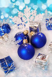 Christmas decoration with snow Royalty Free Stock Images