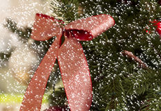 Christmas decoration with snow Royalty Free Stock Photo