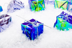 Christmas decoration with snow Royalty Free Stock Photos