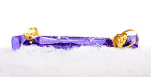 Christmas decoration with snow Stock Image