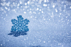 Christmas decoration on snow Stock Photos