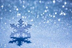 Christmas decoration on snow Royalty Free Stock Photo