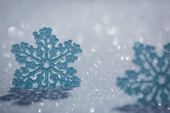 Christmas decoration on snow Stock Images