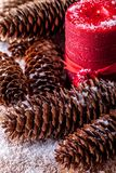 Christmas decoration on the snow. Royalty Free Stock Photography