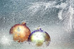 Christmas decoration on the snow royalty free stock photos