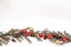 Christmas decoration on a snow Royalty Free Stock Photography