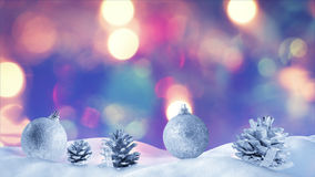 Christmas decoration on snow drift Stock Image