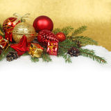 Christmas decoration on snow Stock Photography