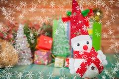 Christmas decoration with snow flake. Christmas decoration with fake snow flake Stock Photography