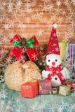 Christmas decoration with snow flake. Christmas decoration with fake snow flake Royalty Free Stock Photography