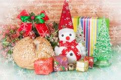 Christmas decoration with snow flake. Christmas decoration with fake snow flake Stock Photos