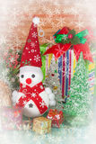 Christmas decoration with  snow flake. Christmas decoration with fake snow flake Royalty Free Stock Photos