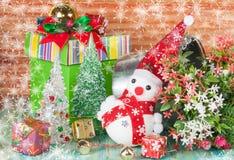 Christmas decoration with snow flake. Christmas decoration with fake snow flake Stock Images