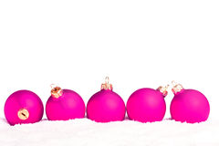Christmas decoration with snow Royalty Free Stock Photography