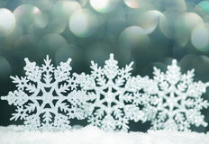 Christmas decoration on snow Royalty Free Stock Photo
