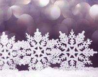 Christmas decoration on snow Royalty Free Stock Photography