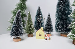 Christmas decoration and Snow on Wood. The Christmas decoration and Snow on Wood Royalty Free Stock Photo