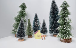 Christmas decoration and Snow on Wood. The Christmas decoration and Snow on Wood Stock Image