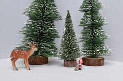 Christmas decoration and Snow on Wood. The Christmas decoration and Snow on Wood Stock Photos