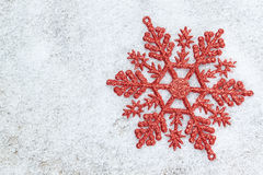 Christmas decoration snowflake. Royalty Free Stock Image