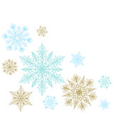 Christmas decoration with snowflakes Royalty Free Stock Image