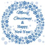 Christmas decoration, snowflakes, gifts, icons. Winter holidays Royalty Free Stock Photo