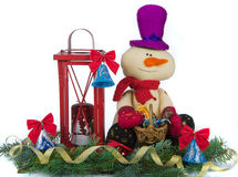 Christmas decoration with snowman Royalty Free Stock Images