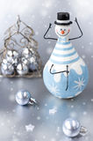 Christmas decoration snowman Stock Photos