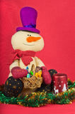 Christmas decoration and snowman Stock Images