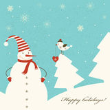 Christmas decoration with snowman. Royalty Free Stock Photography