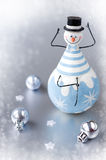Christmas decoration snowman and balls Royalty Free Stock Image