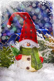 Christmas decoration with snowman Stock Photo